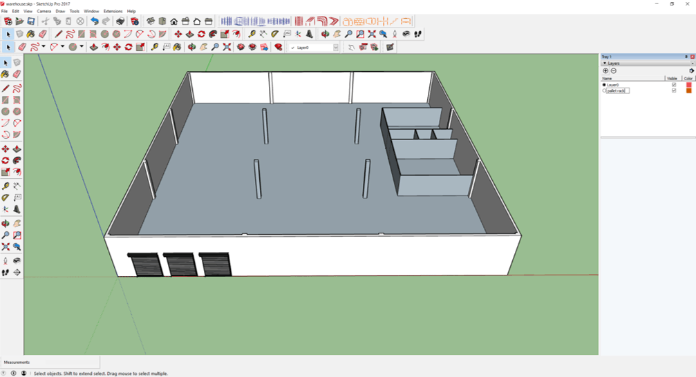 draw warehouse layout