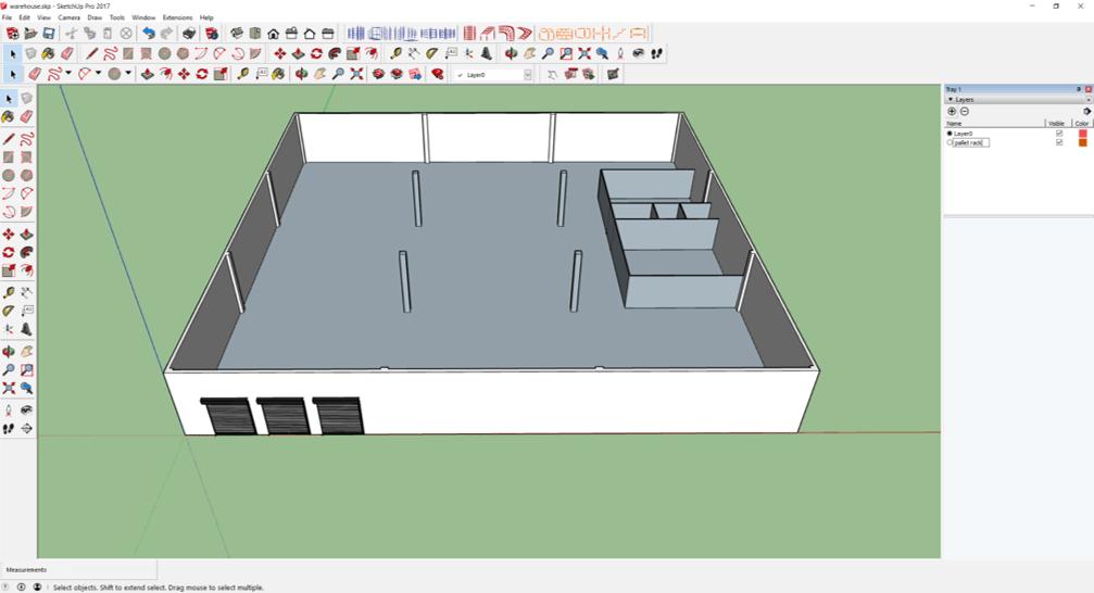 draw warehouse layout