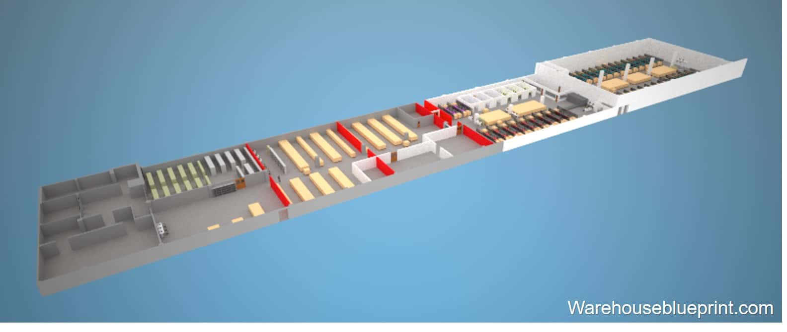 Warehouse Layout 11 - rendered