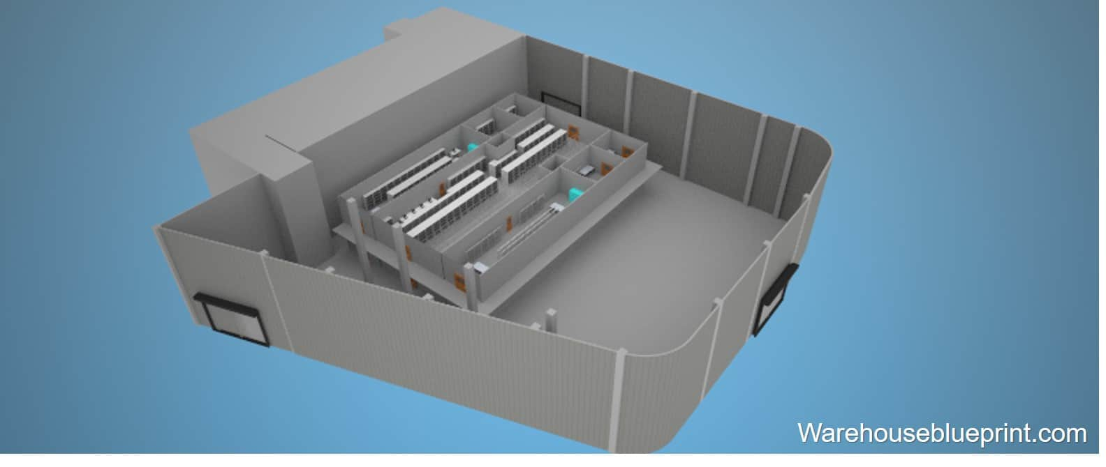 Warehouse Layout 13 - rendered