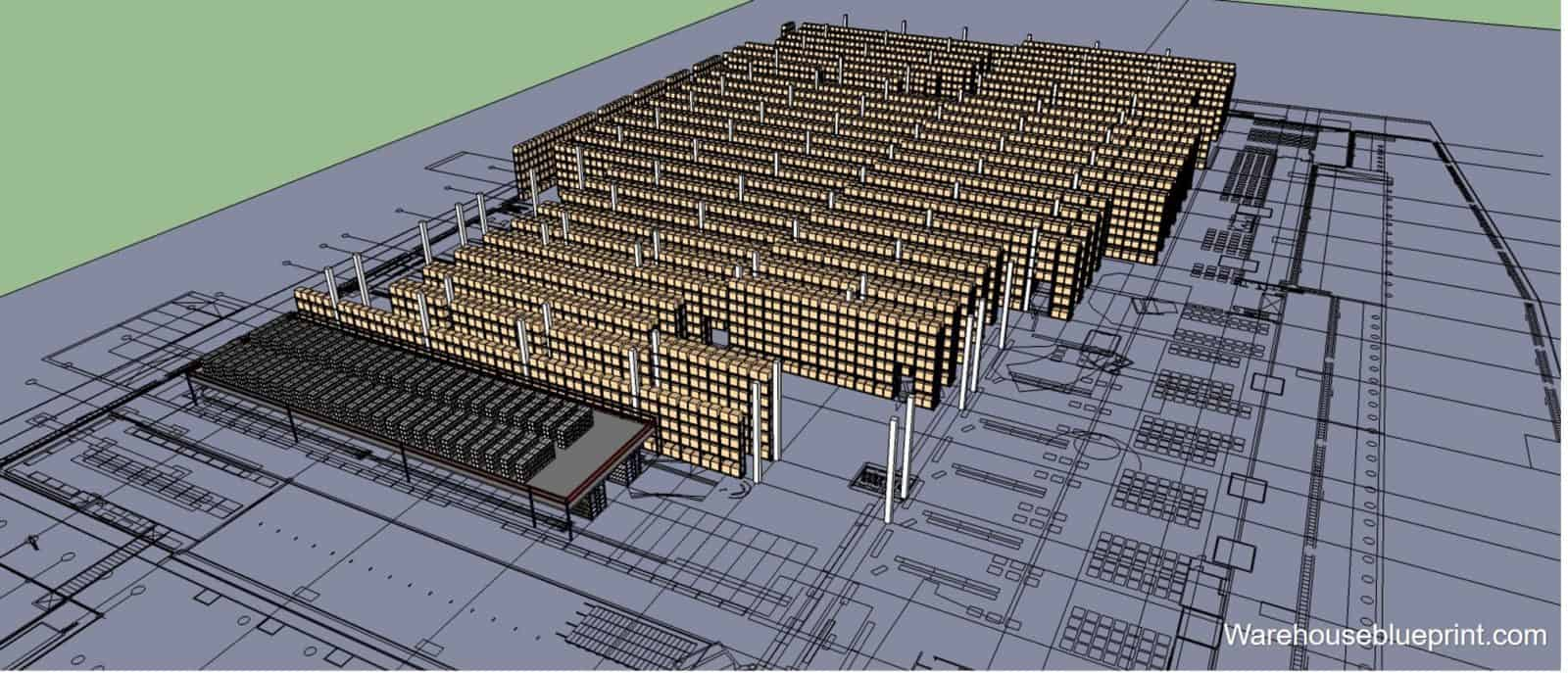 How to draw a warehouse layout warehouseblueprint for Draw layout warehouse