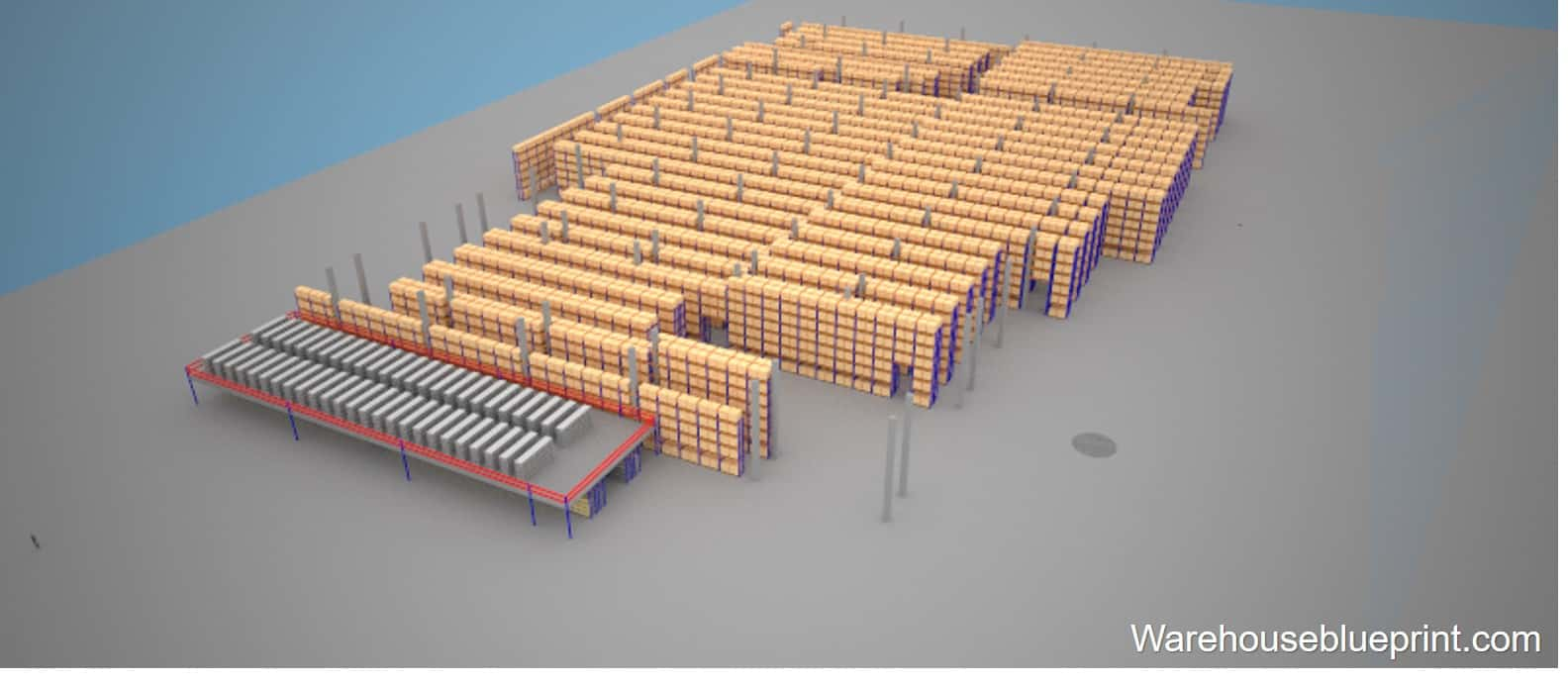 Warehouse Layout 16 - rendered