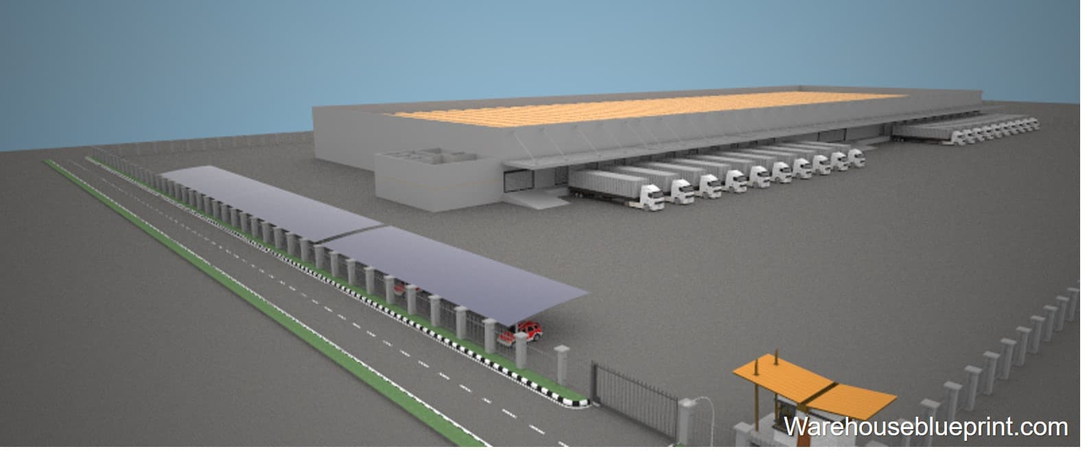 Warehouse Layout 18 - rendered