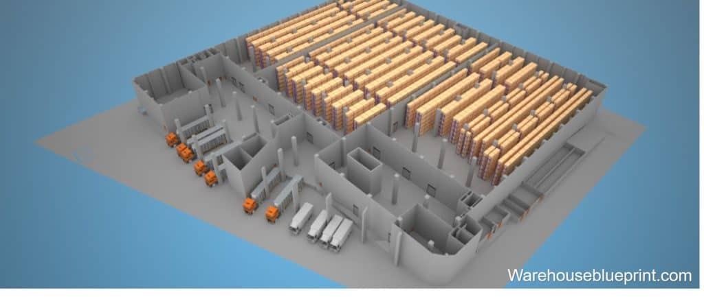 Warehouse Layout 19 - rendered