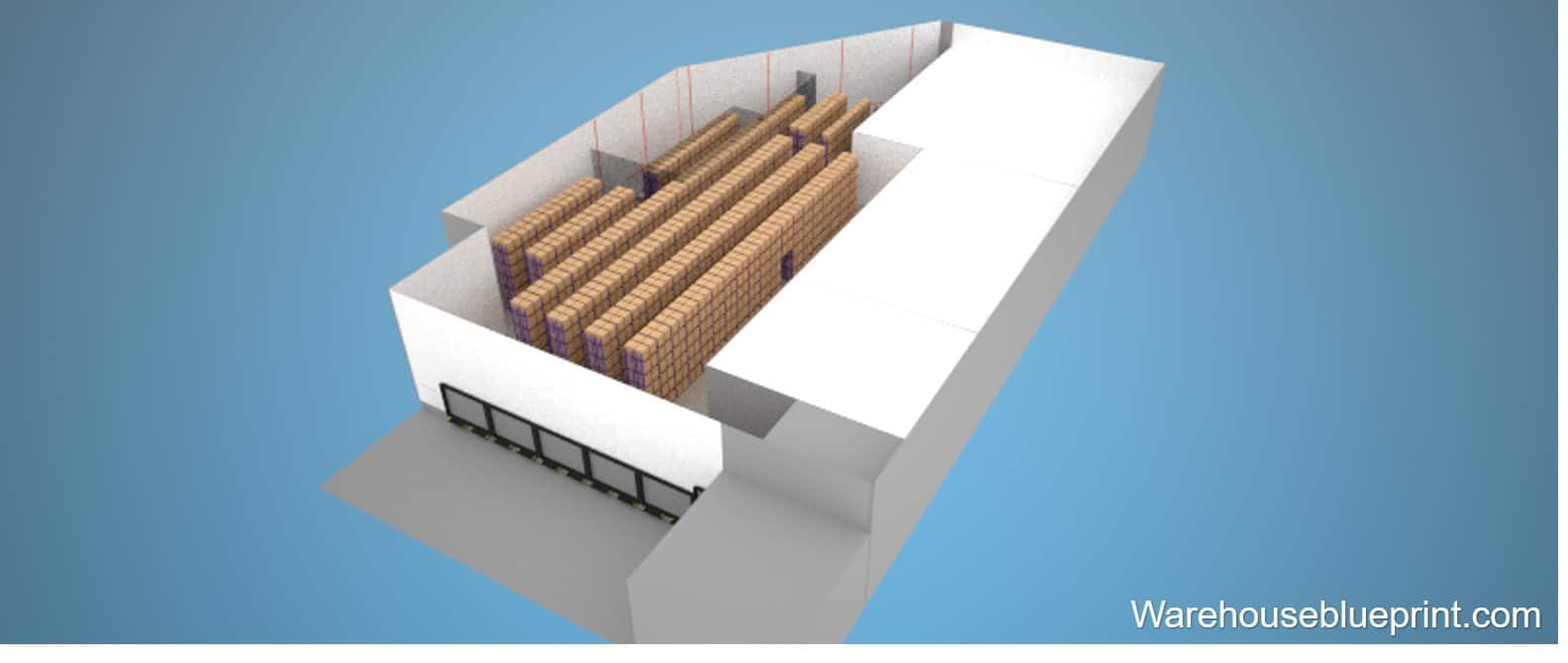 Warehouse Layout 2 - rendered