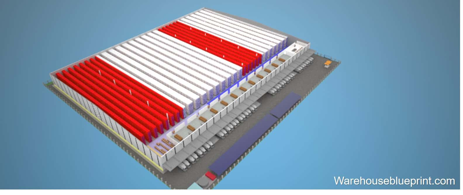Warehouse Layout 3 - rendered