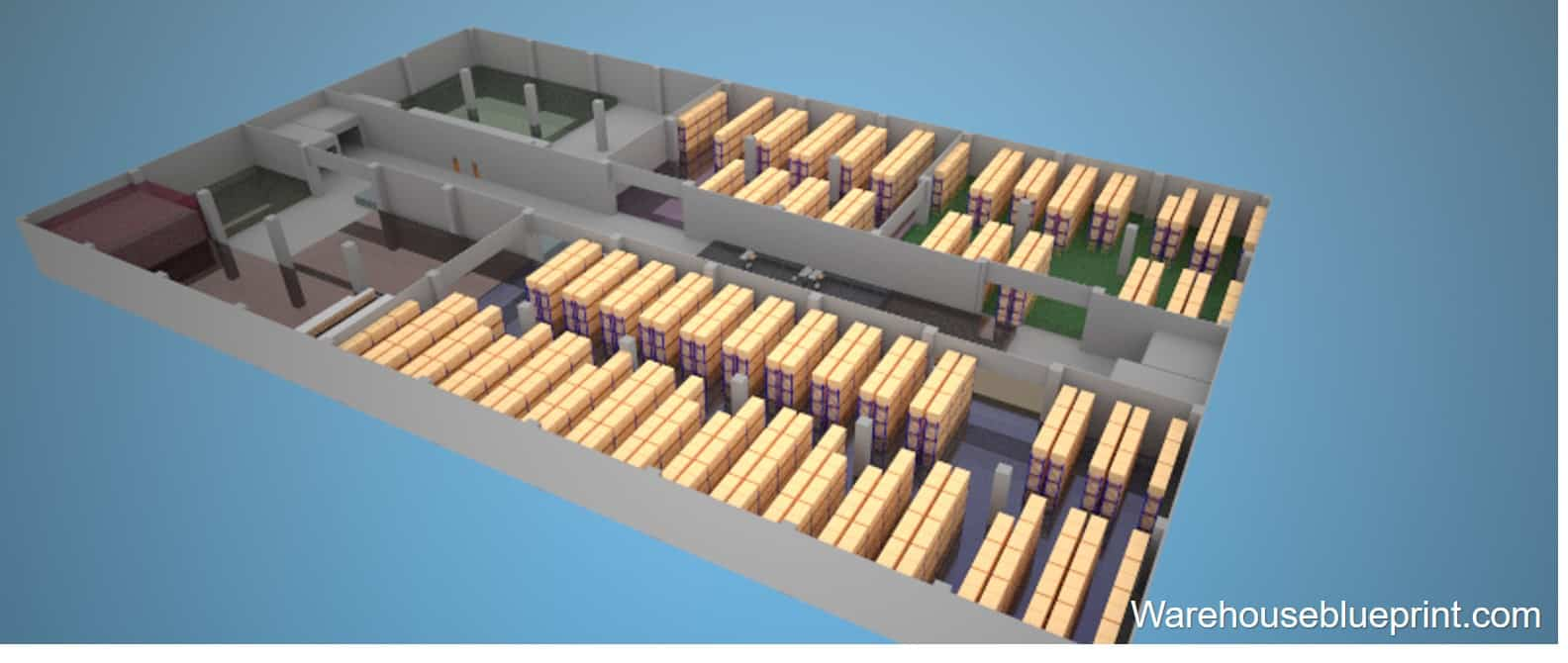 Warehouse Layout 7 - rendered